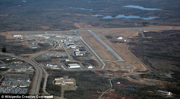 The plane was diverted to Halifax Stanfield International Airport (pictured)