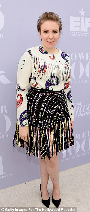 Fringe benefits: The actress teamed a knitted skirt with a paisley blouse with tassel detail for the event
