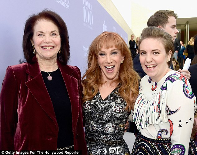Influential: The TV star shared a giggle with comedian Kathy Griffin and studio exec Sherry Lansing
