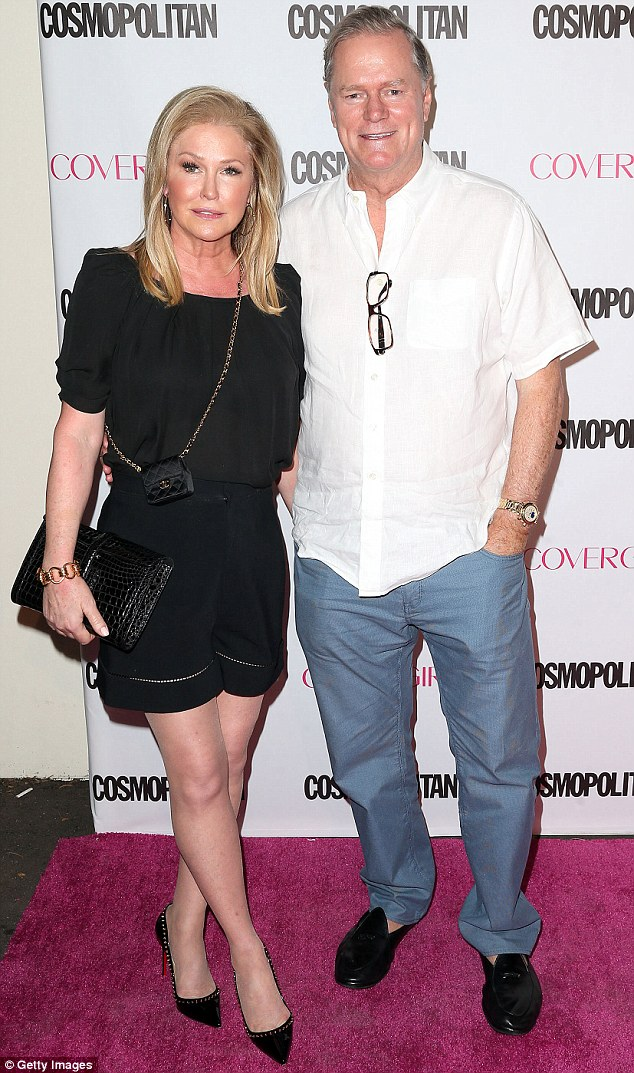 Not the friendliest brothers in law: Real estate agents Mauricio and Rick (seen here with Kathy Hilton in October) allegedly fell out over a business matter