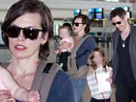 eURN: AD*190508740  Headline: Milla Jovovich and family at Cape Town Airport, South Africa - 10 Dec 2015 Caption: Mandatory Credit: Photo by Tania Coetzee/REX Shutterstock (5490811ah)  Milla Jovovich with daughters Dashiel and Ever Gabo  Milla Jovovich and family at Cape Town Airport, South Africa - 10 Dec 2015    Photographer: Tania Coetzee/REX Shutterstock Loaded on 11/12/2015 at 00:58 Copyright: REX FEATURES Provider: Tania Coetzee/REX Shutterstock  Properties: RGB JPEG Image (31248K 1168K 26.8:1) 2688w x 3968h at 300 x 300 dpi  Routing: DM News : GeneralFeed (Miscellaneous) DM Showbiz : SHOWBIZ (Miscellaneous) DM Online : Online Previews (Miscellaneous), CMS Out (Miscellaneous)  Parking: