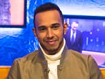Editorial Use Only. No merchandising ***EMBARGOED - STRICTLY NOT FOR PUBLICATION BEFORE 00.01 HOURS FRIDAY 11TH DECEMBER 2015***  Mandatory Credit: Photo by Brian J Ritchie/REX Shutterstock (5490594i)  Lewis Hamilton  'The Jonathan Ross Show', London, Britain - 09 Dec 2015