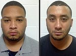 FILE - These undated file booking photos provided by the Louisiana State Police shows Marksville City Marshal Derrick Stafford, left, and Marksville City Marshal Norris Greenhouse Jr. Stafford and Greenhouse Jr. were arrested on charges of second-degree murder and attempted second-degree murder in the Nov. 3, 2015 fatal shooting of Jeremy Mardis, a six-year-old autistic boy, in Marksville, La. The shooting also wounded Mardis' father, Chris Few. Grandmother Cathy Mardis of of Hattiesburg, Miss., on Thursday, Dec. 10, 2015, called for the release of police body camera footage from the incident.  (Louisiana State Police via AP, File) MANDATORY CREDIT