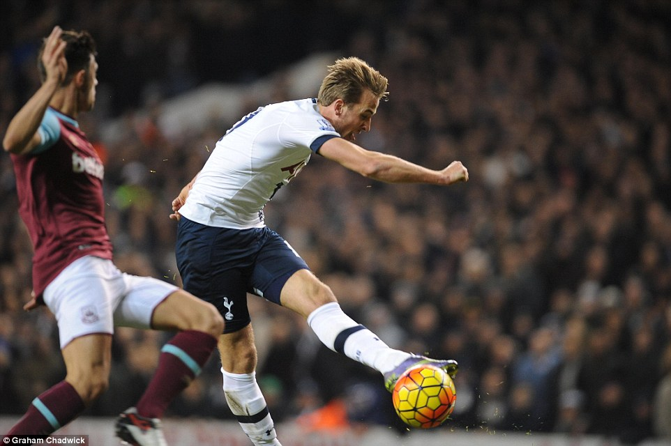 Kane should have had another when he was put in behind, but his shot when through on goal was well wide of the target