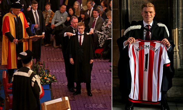 Duncan Watmore receives first-class degree at Newcastle University as Sunderland starlet