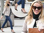Brentwood, CA - Reese Witherspoon heads to lunch in Brentwood. The actress wore a dark green turtleneck and beige coat paired with skinny jeans and leopard print heels. A friendly Reese gave a megawatt smile to the valet guy as she handed off her keys. \n  \nAKM-GSI      December 10, 2015\nTo License These Photos, Please Contact :\nSteve Ginsburg\n(310) 505-8447\n(323) 423-9397\nsteve@akmgsi.com\nsales@akmgsi.com\nor\nMaria Buda\n(917) 242-1505\nmbuda@akmgsi.com\nginsburgspalyinc@gmail.com