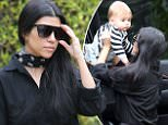 Picture Shows: Kourtney Kardashian  December 10, 2015\n \n Reality star and busy mom Kourtney Kardashian takes her son Reign to a music class in Beverly Hills, California. It is being reported that Kourtney and partner Scott Disick are back together after a six month split.\n \n Non-Exclusive\n UK RIGHTS ONLY\n \n Pictures by : FameFlynet UK © 2015\n Tel : +44 (0)20 3551 5049\n Email : info@fameflynet.uk.com