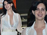 Lana Del Rey turns heads in a white sheer retro dress and donning a big smile while attending The Weeknd concert in LA. Other celebrities in attendance at the concert at The Forum include the Kardashian women, Khloe, Kourtney, Kylie, Kendall, and mother Kris, as well as model Cara Delevingne, Nick Jonas, Joe Jonas, French Montana, Bella Hadid, Travis Scott, Ashanti and others. Wednesday, December 9, 2015 X17online.com