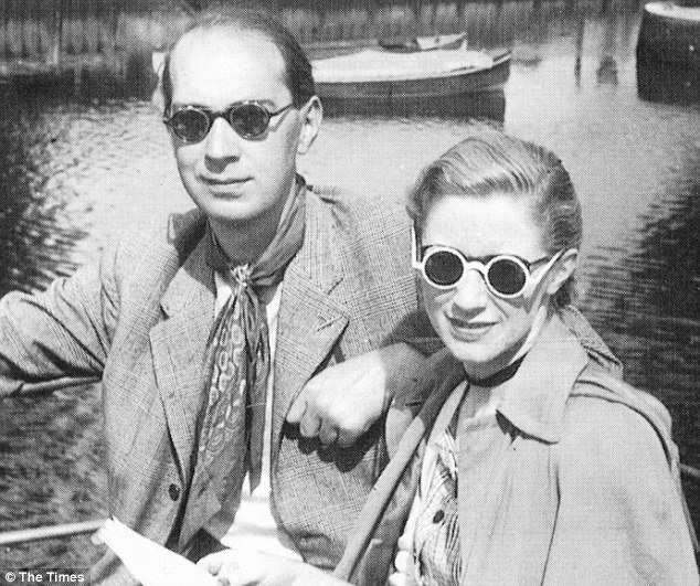 Revolting: Larkin and his girlfriend Monica Jones (pictured together in the late 1950s) made a recording of themselves singing a ditty, using the 'n' word and calling for black people to be thrown out of Britain