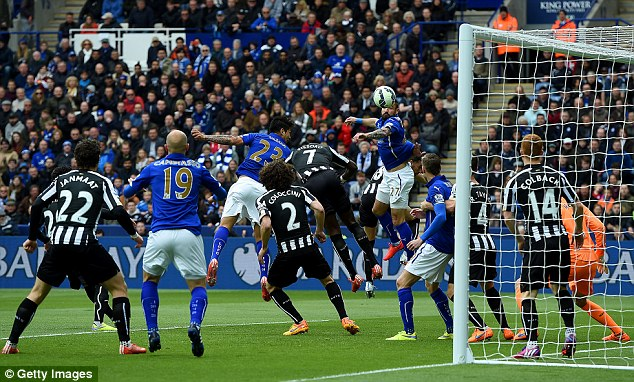 During the 3-0 defeat against Leicester, Newcastle conceded after just 36 seconds from a corner