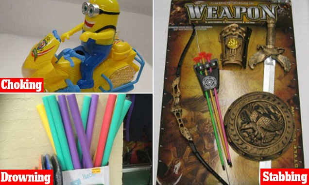 Christmas toys being sold in $2 stores across NSW could drown or choke your child