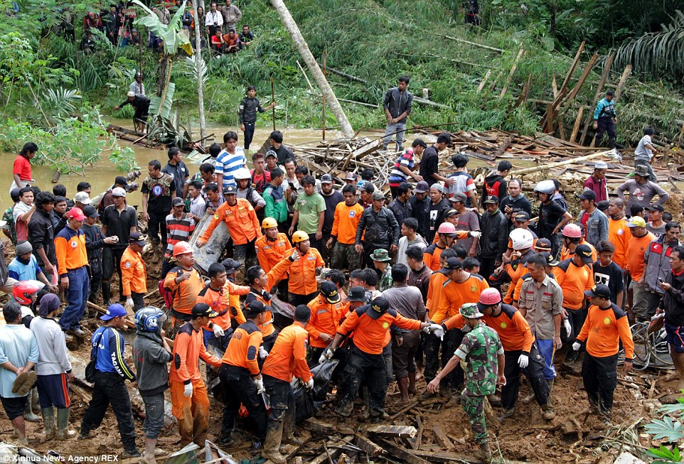 Sutopo Purwo Nugroho, spokesman for the National Disaster Mitigation Agency, said 577 people from the surrounding areas had been taken to temporary shelters