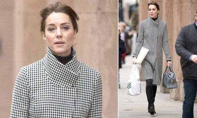 Kate Middleton does some Christmas shopping at Peter Jones department store