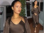 Santa Monica, CA - Rihanna has dinner at Giorgio Baldi in Santa Monica. RiRi was well dressed for her night out on the town in a classy brown dress and white strappy heels. AKM-GSI        December  11, 2015 To License These Photos, Please Contact : Steve Ginsburg (310) 505-8447 (323) 423-9397 steve@akmgsi.com sales@akmgsi.com or Maria Buda (917) 242-1505 mbuda@akmgsi.com ginsburgspalyinc@gmail.com