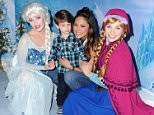 Vanessa Lachey, Camden Lachey attending Disney On Ice presents 'Frozen' in Los Angeles