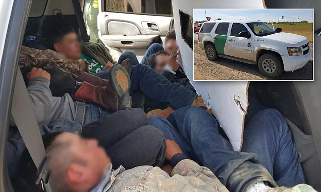 Undocumented immigrants found near US-Mexico border in 'Border Patrol vehicle SUV'