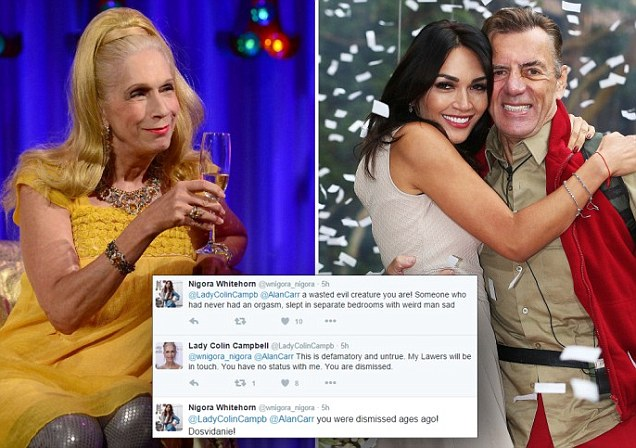 Lady C in Twitter spat with Duncan Bannatyne's girlfriend Nigora Whitehorn