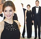 Queen Letizia at gala dinner