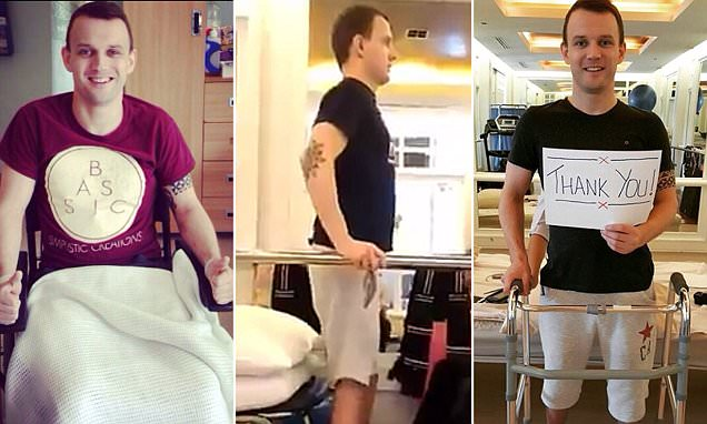 'Paralysed' biker stands again thanks to Better Being Hospital in Thailand