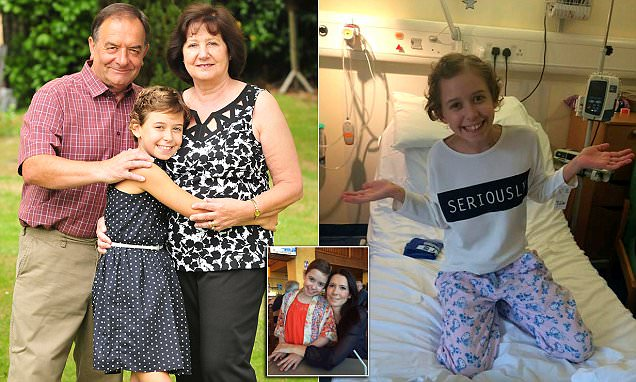 Evie McClean with leukaemia has life-saving stem cell transplant