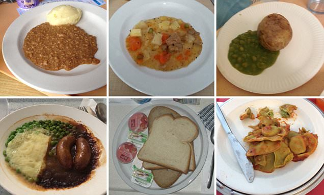 Pictures of the WORST hospital food served in the UK