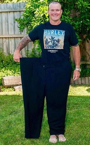 Father loses HALF his body weight after taking up exercise and cutting out beer