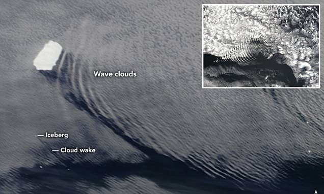 NASA images show icebergs are creating waves in the sky by disrupting air flow