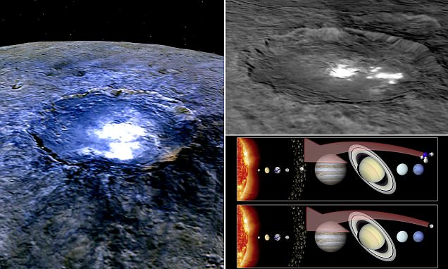 Bright 'alien' marks on Ceres' surface may be WATER ICE