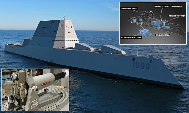 Watch the US Navy's largest ever 'stealth' destroyer put through its paces in first sea