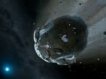 Illustration of a water-rich asteroid - a new US law legalizes the extraction of minerals and other materials, including water, from asteroids and the moon ©Mark A. Garlick (Warwick & Cambridge Universities/AFP/File)