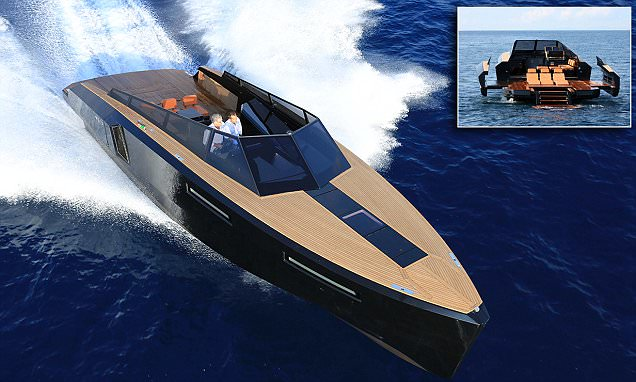 Star Wars and Darth Vader inspired motorboat with expandable WINGS