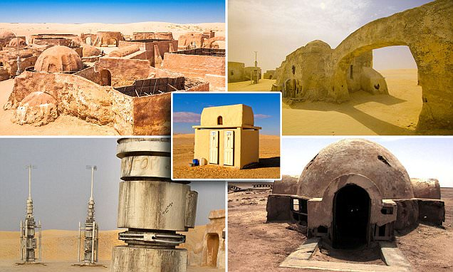 Abandoned Star Wars sets deep in the Tunisian desert like Mos Espa