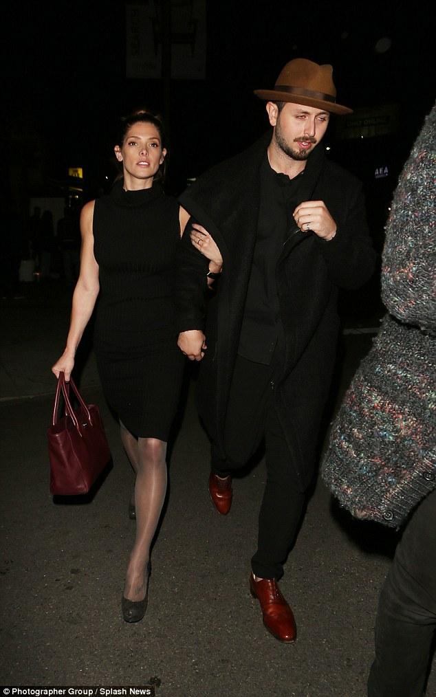 Matching ensembles:Twilight star Ashley Greene looked sensational as she stepped out with her TV actor boyfriend Paul Khoury