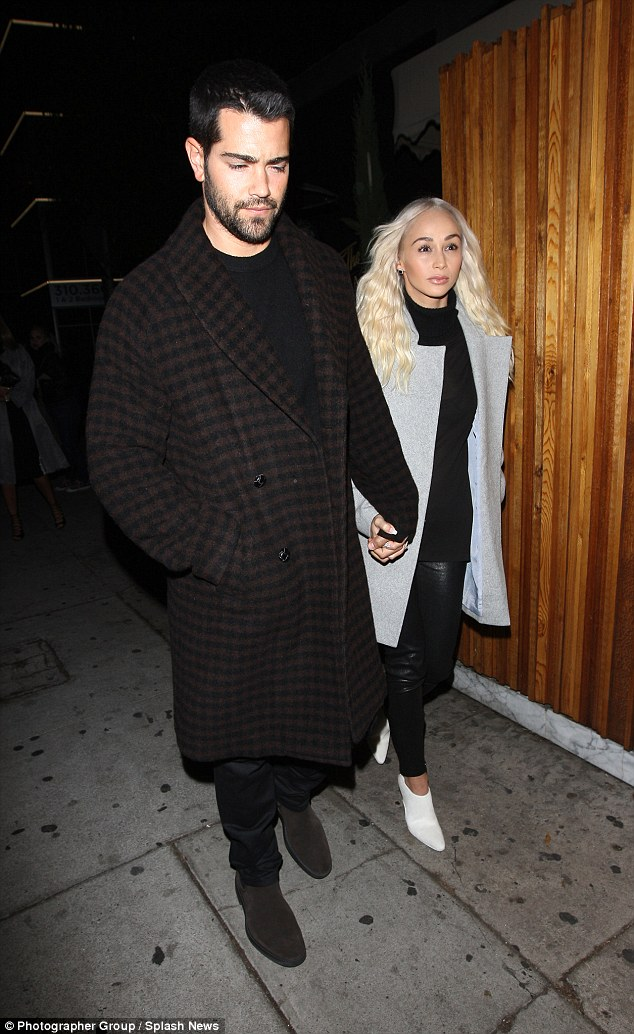 Edgy ensembles:Another cutting edge couple to hit up the eatery was Jesse Metcalfe and his long-term girlfriend Cara Santana