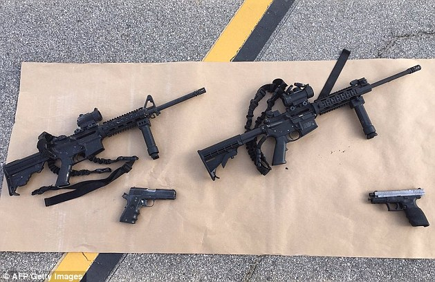 While Farook and Malik are believed to have bought the handguns they used during their massacre themselves, Marquez is believed to have legally bought the larger assault-style rifles