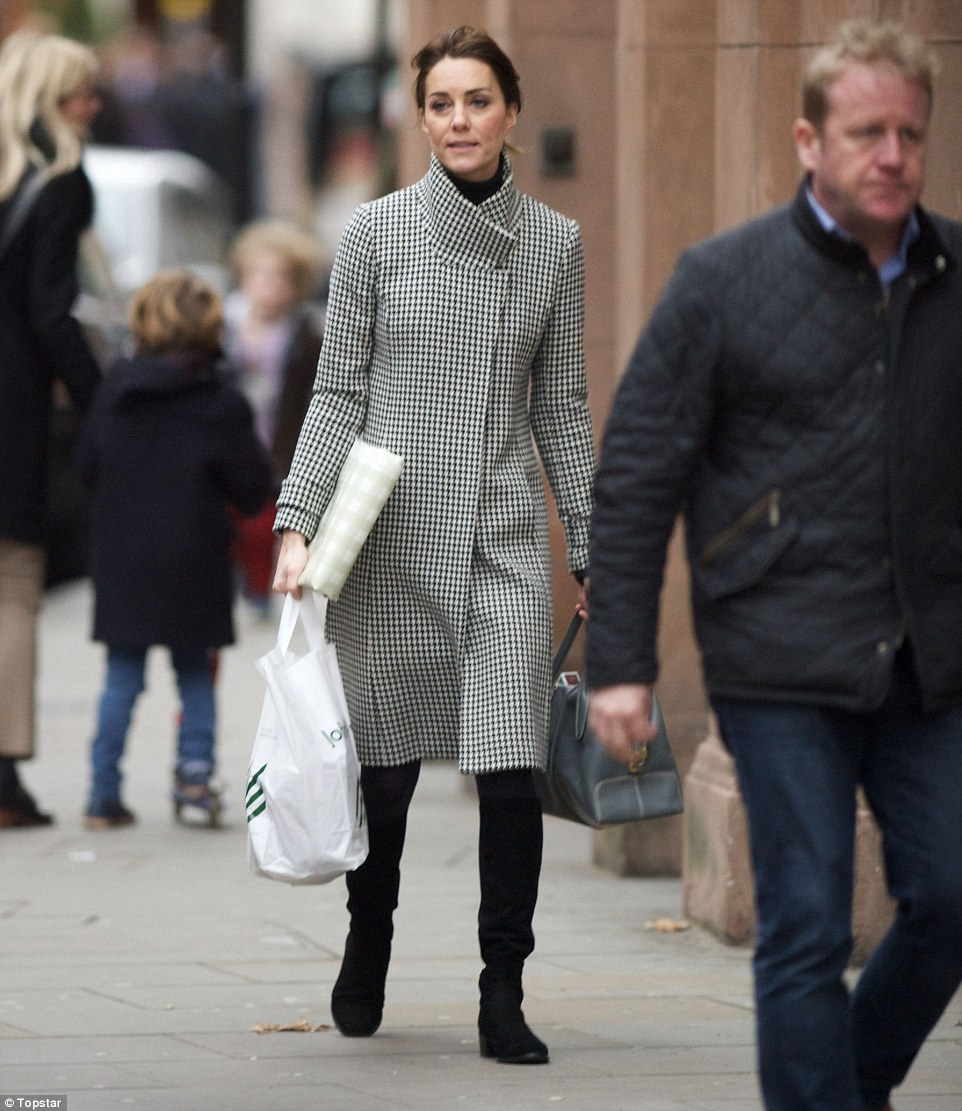 Family favourite: Earlier this week, Kate's mother, Carole Middleton, was spotted shopping in the same upmarket area of London