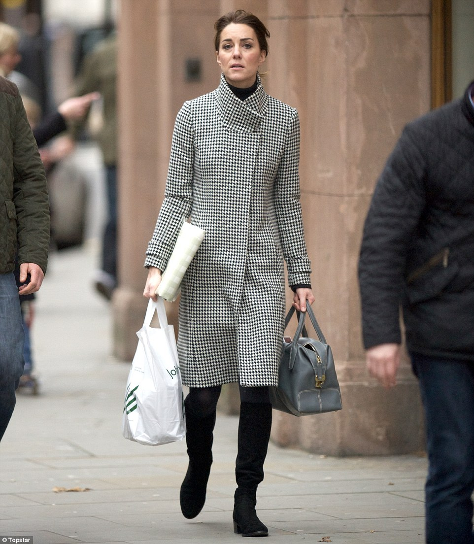 The Duchess has joined William at a number of royal engagements this week, so it might be that she slipped out to buy his present