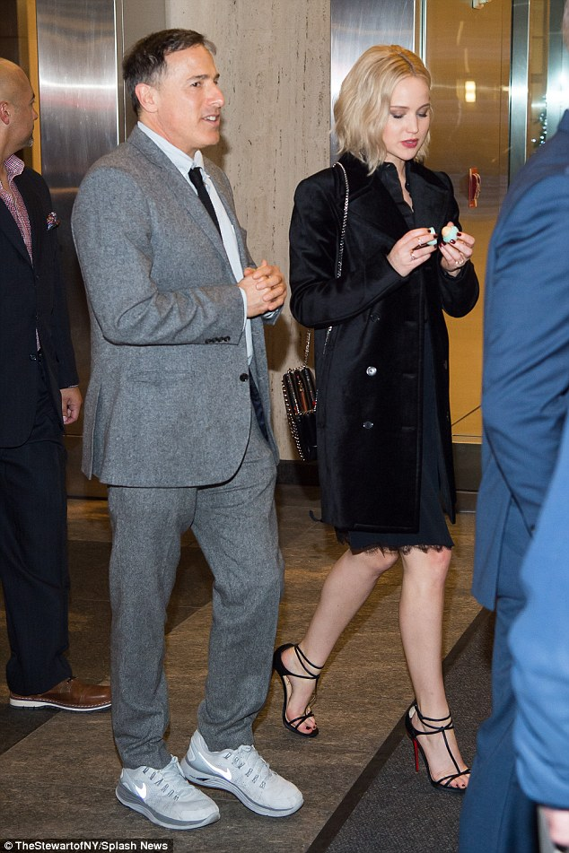 Here we go: Jennifer and director David O. Russell were seen arriving at the event together a little while later