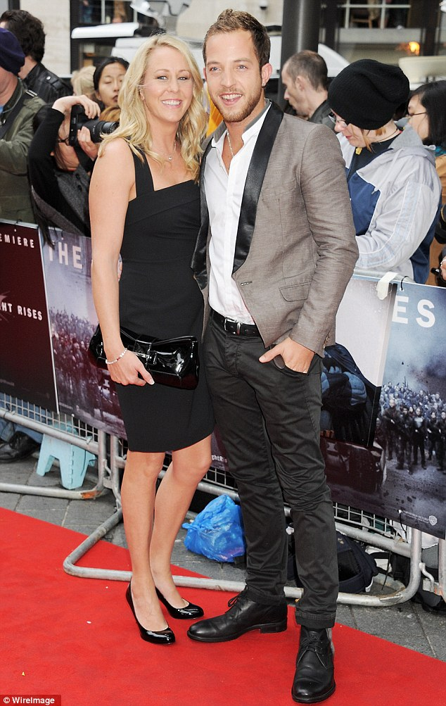 James Morrison (right) attends the European Premiere of The Dark Knight Rises at Odeon Leicester Square on July 18, 2012 in London