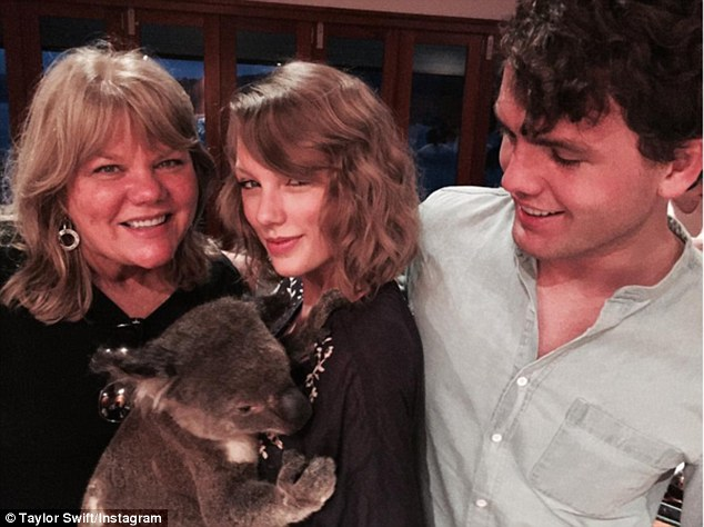 Spending some koala-ty time! Taylor took to Instagram to thank her dedicated and passionate fans for what has been 'the most incredible adventure'