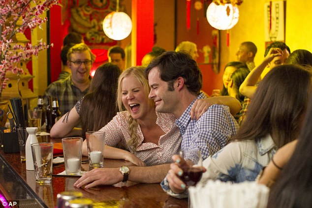 Hit film: The comedienne is up for her film Trainwreck, which also stars Bill Hader