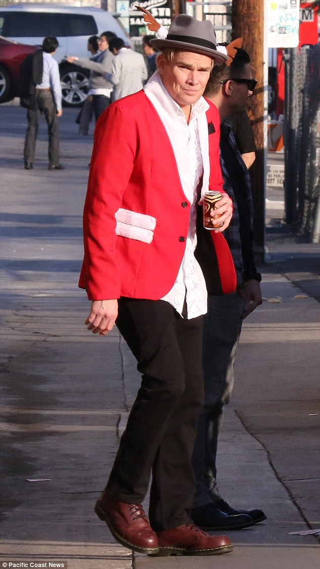 Fellow musician: Mark McGrath, pictured in Hollywood on Wednesday, was friends with Scott Weiland and described his final encounter with the rocker at a friend's wedding three weeks ago as 'strange'