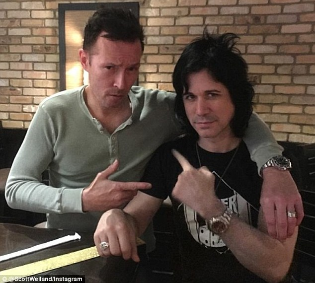 Pals: Photos of Black and Weiland hanging out together featured prominently  on the former Stone Temple Pilots singer's Instagram account over the past two weeks