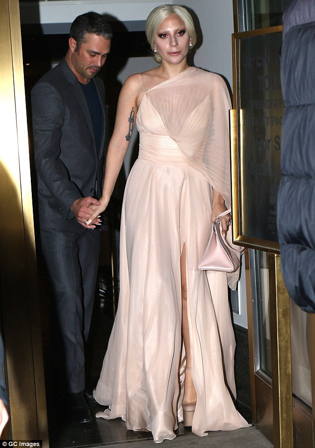 Date night: 29-year old singer and actress stepped out with her fiance Taylor Kinney in NYC on Saturday