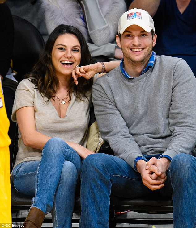 Life imitating art: Ashton married his sweetheart from the show, Mila Kunis, 32, back in July of this year