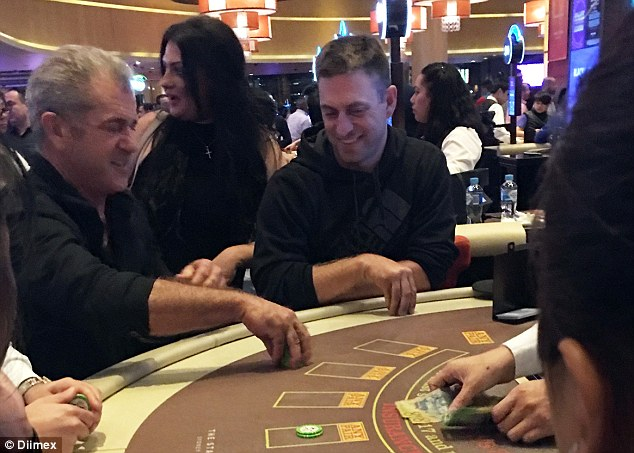 Bravehearts and clubs: Mel Gibson was hard to miss as he took a seat at the blackjack table during an appearance at Sydney's Star Casino, where he is understood to have remained for half an hour before leaving in the early hours of the morning.