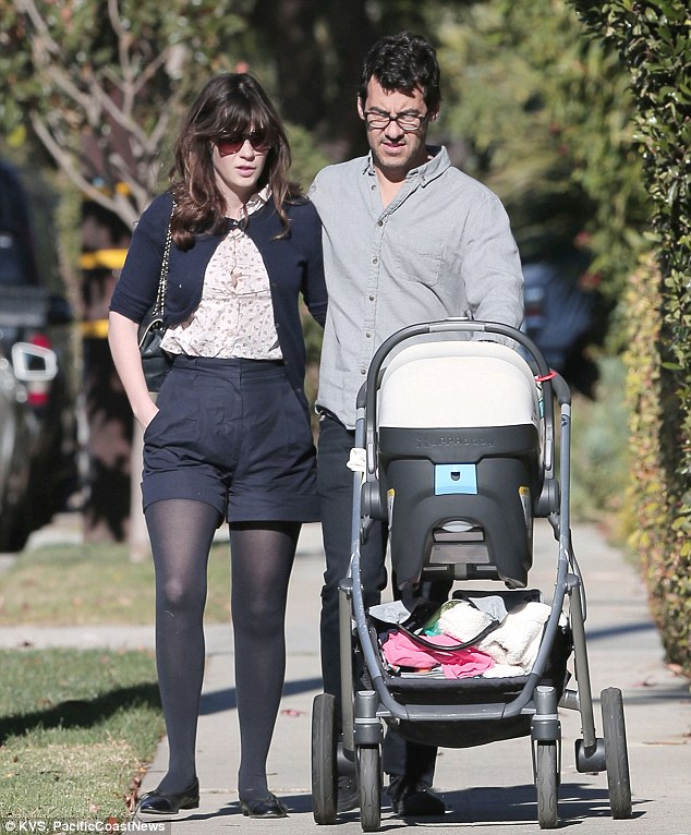 Whirlwind romance: Zooey was three months pregnant when she and her 42-year-old beau announced their engagement, and they wed sometime before the baby arrived