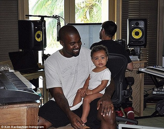 'We're working slow': Kanye has also been busy recording his seventh studio album SWISH, which he compared to a 'sonic painting that gets better every week'