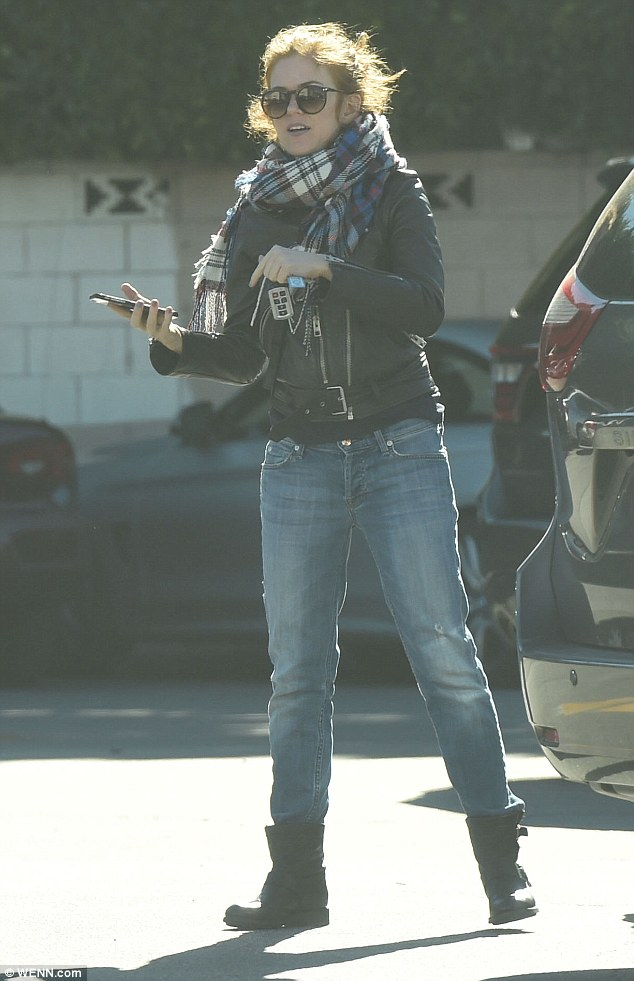 Out and about: Australian actress Isla Fisher was spotted running errands in Los Angeles on Saturday