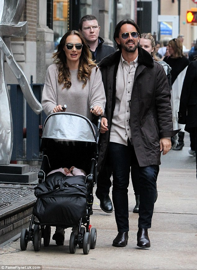 Family day out:Tamara Ecclestone, 31, was reunited with her husband Jay Rutland on Saturday, the couple proceeding to spend a lovely day out with their 21-month-old daughter Sophia